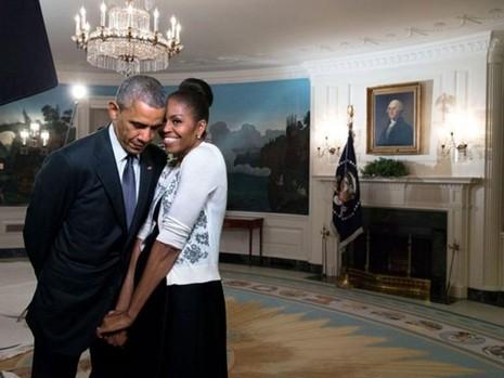 Vợ chồng Obama nhắn nhủ tình tứ ngày Valentine - ảnh 1