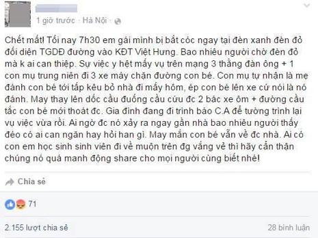 Thông tin bé gái bị bắt cóc ở quận Long Biên là bịa đặt - ảnh 1
