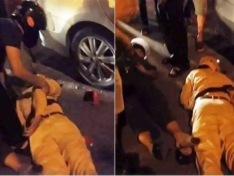 Truy đuổi xe vi phạm, 2 cảnh sát ngã bất tỉnh - ảnh 1