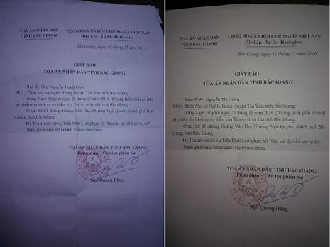 Ông Nguyễn Thanh Chấn cùng vợ được mời tới tòa với tư cách người làm chứng