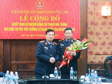 VKSND Tối cao bổ nhiệm phó thủ trưởng cơ quan điều tra  - ảnh 1
