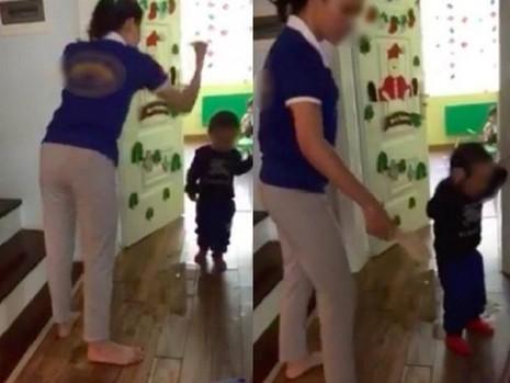 Tạm đình chỉ giáo viên dùng dép đánh trẻ mầm non - ảnh 1