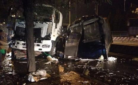 CSGT bị xe container tông chết khi làm nhiệm vụ - ảnh 1