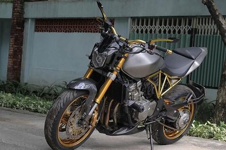 Tận thấy Honda Hornet 600 mạ vàng 24k ở Việt Nam - ảnh 2