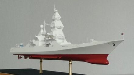 Mô hình thiết kế siêu tàu khu trục Project 23560E Shkval