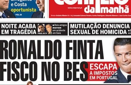 Ronaldo bị cáo buộc trốn thuế ở Bồ Đào Nha.