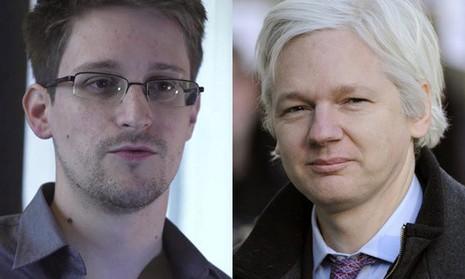 Pháp cân nhắc cho 'người thổi còi' Snowden và Assange tị nạn - ảnh 1