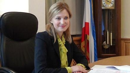 Công tố viên trưởng N. Poklonskaya tại văn phòng làm việc - trụ sở Viện Công tố Crimea.