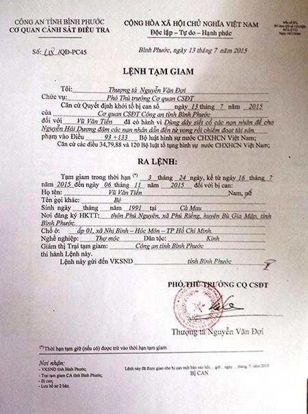 Thảm sát Bình Phước: VKS đã phê chuẩn quyết định khởi tố 2nghi can - ảnh 4