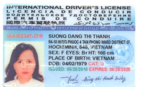 Thủ tục cấp đổi giấp phép lái xe quốc tế - ảnh 1
