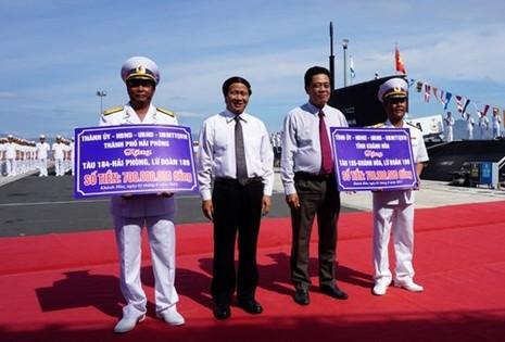 Thượng cờ tàu ngầm 184 - Hải Phòng và 185 - Khánh Hòa - ảnh 4