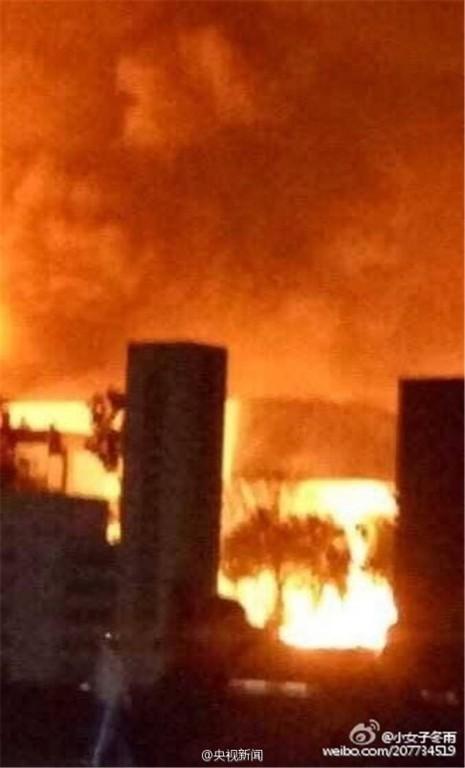 Trung Quốc: Lại cháy nổ kinh hoàng ở một nhà máy hóa chất  - ảnh 1
