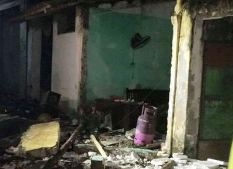 Hiện trường nơi xảy ra vụ nổ gas ở Nam Định