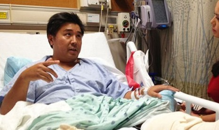 Anh Lee đang được điều trị trong bệnh viện