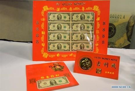 Mỹ ra mắt bộ sưu tập tiền 'lì xì may mắn' năm Bính Thân - ảnh 3