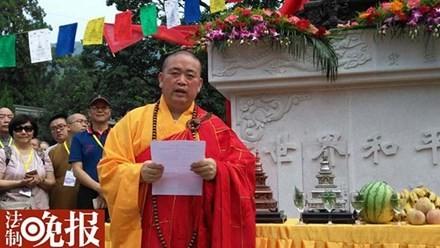 Sư trụ trì chùa Thiếu Lâm Thích Vĩnh Tín. Nguồn: QQ.