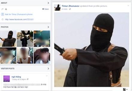Nhiều tài khoản mạo danh thành viên IS xuất hiện trên Facebook gây xôn xao dư luận. Ảnh chụp màn hình.