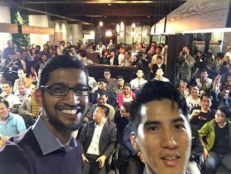 CEO Google ngồi trà chanh vỉa hè ở Hà Nội - ảnh 1