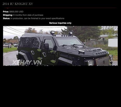 Xe bọc thép Conquest Knight XV giá hơn 50 tỷ chuẩn bị về Quảng Ninh - ảnh 10