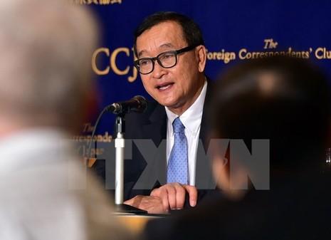 Thủ lĩnh đối lập Sam Rainsy bị tòa Campuchia kết tội phỉ báng - ảnh 1