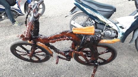 Mô tô bằng gốc cây của nông dân Lâm Đồng khiến dân chơi xe sửng sốt - ảnh 5
