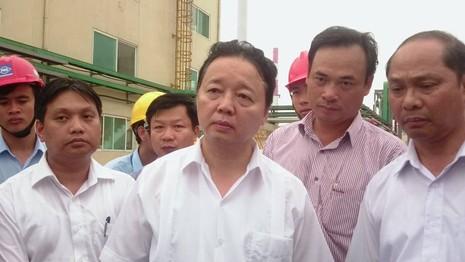 bộ trưởng trần hồng hà thị sát tại Formosa