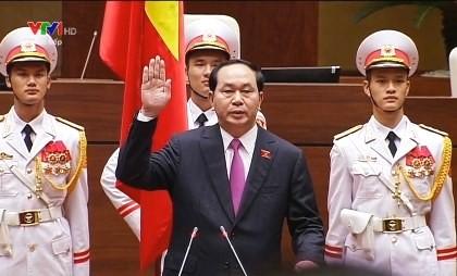 Chủ tịch nước Trần Đại Quang tái đắc cử  - ảnh 1