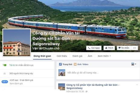 Đường sắt Sài Gòn tiếp nhận phản ánh qua Facebook - ảnh 1