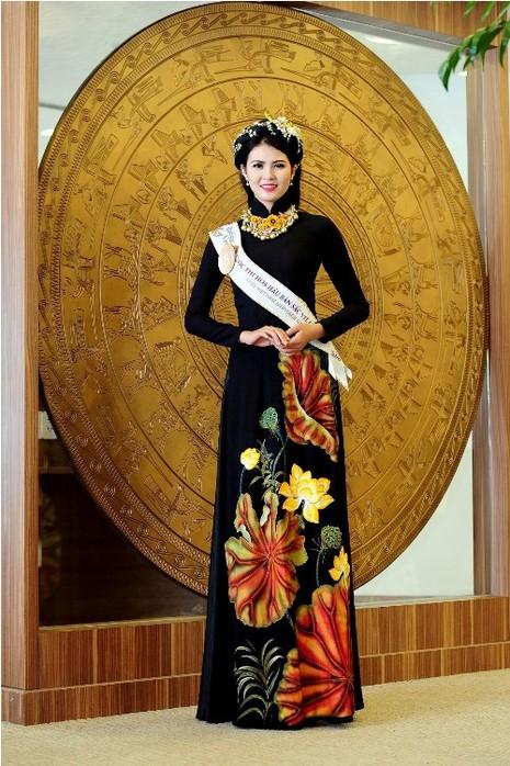 Thí sinh Hoa hậu bản sắc Việt đẹp nền nã trong trang phục áo dài - ảnh 2