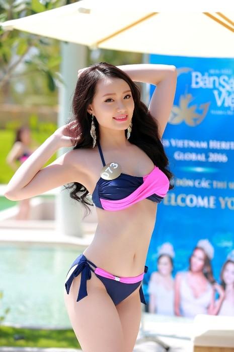Người đẹp gốc Việt khoe đường cong tại 'Hoa hậu Bản sắc Việt' - ảnh 4