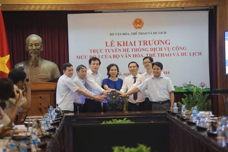 Bộ VH-TT&DL đã chính thức khai trương Dịch vụ công trực tuyến mức độ 3