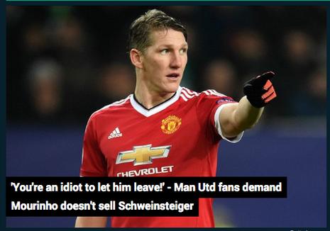Fan MU: Jose Mourinho là tên ngốc nếu bán Bastian - ảnh 1