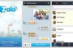 Ứng dụng nhắn tin nội địa Zalo đang rất phổ biến với với 12 triệu người dùng