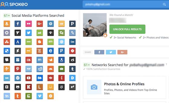 Tìm toàn bộ thông tin trên nhiều mạng xã hội với Spokeo