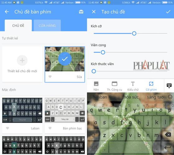 Tự thiết kế giao diện bàn phím hoặc chèn ảnh nền bất kì