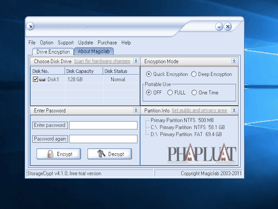 Bảo mật dữ liệu trên USB bằng StorageCrypt