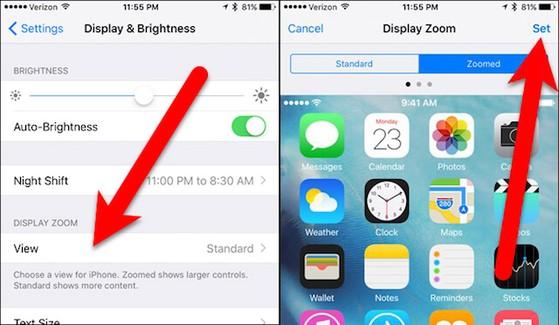 Kích hoạt chế độ Zoomed để tăng kích thước văn bản trên iPhone
