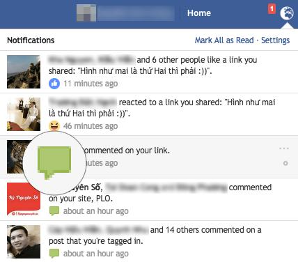 Facebook thay đổi các biểu tượng trên thanh thông báo