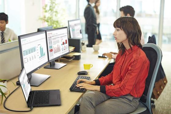 Dell P2417H giúp giảm mỏi mắt nhờ tính năng ComfortView. Ảnh: Dell