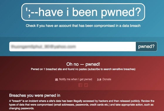 Điều này đồng nghĩa với việc tài khoản của bạn đã bị rò rỉ trên mạng. Ảnh: T.MINH