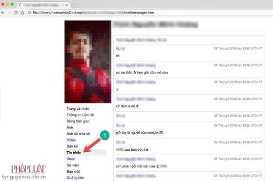 khôi phục tin nhắn facebook