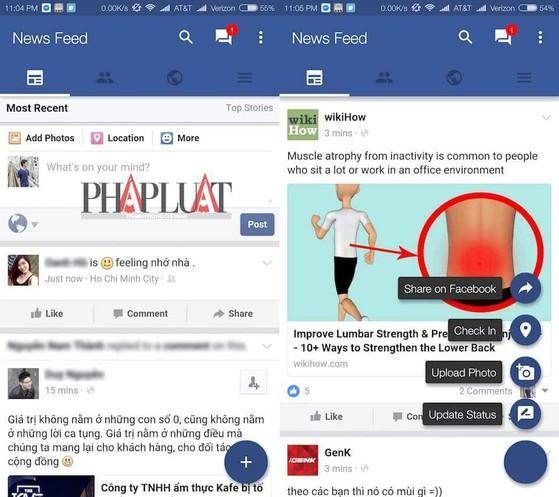 swipe for facebook