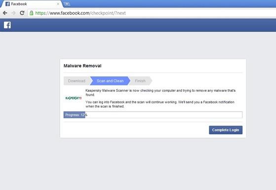 kaspersky malware scan for facebook