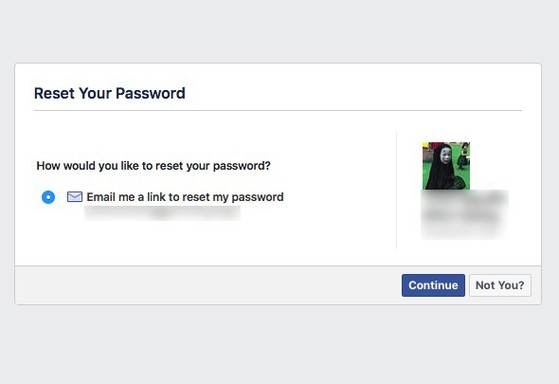facebook reset
