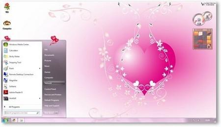 Download bộ giao diện về ngày lễ tình nhân cho Windows 7 miễn phí