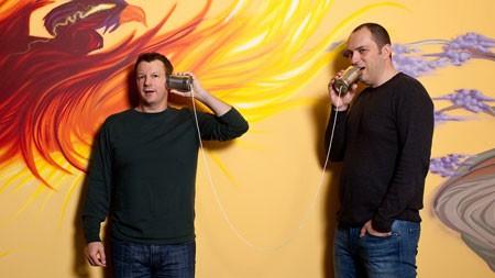 Brian Acton và Jan Koum, hai đồng sáng lập của WhatsApp.