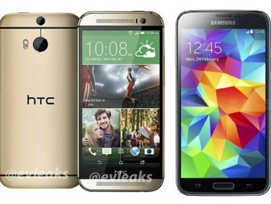 htc one 2014, galaxy s5, smartphone android