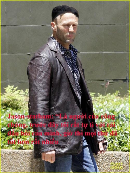Tài tử điện ảnh Jason Statham sẽ trông thế này nếu buộc phải cạo tóc hai bên, để một nhúm tóc trên đỉnh và rẽ ngôi giữa.