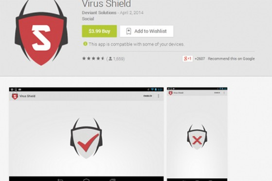 Google Play, Android Police, Virus Shield