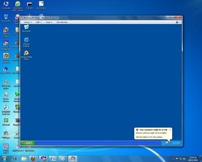 Máy tính ảo giúp người dùng tiếp tục sử dụng Windows XP trên phiên bản Windows mới hơn (Windows 7)